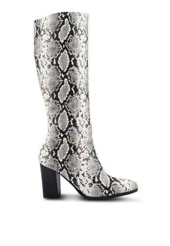MANGO 白色 蛇紋長靴 CBDD9SHD02DF37GS_1