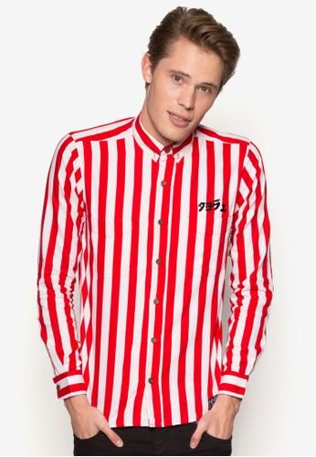 1960'esprit 童裝S 條紋長袖襯衫, 服飾, 襯衫