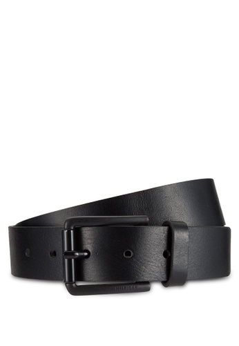 Tommy Hilfiger black TH ROLLER BUCKLE BELT 3.5 TO861AC0RR16MY_1