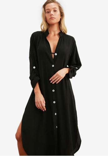 Trendyol 黑色 素色洋裝 00613AA8E3388DGS_1
