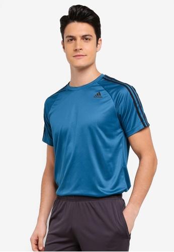 adidas blue adidas d2m tee 3s AD372AA0SURTMY_1