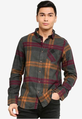 Brave Soul multi Long Sleeve Check Shirt D30D1AA94683D7GS_1