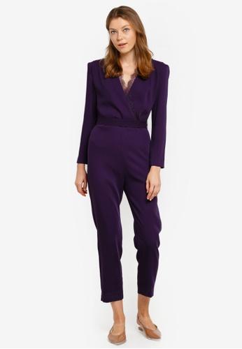 Mango purple Shoulder Pads Mono Jumpsuit 676D1AA0E5BC63GS_1