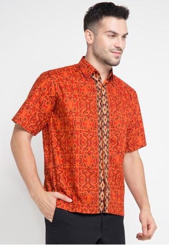 Adikusuma orange Hem Batik Katun AD742AA0VO1UID_1