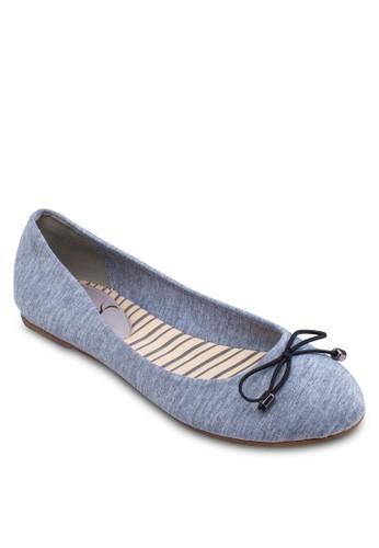蝴蝶結帆布平底鞋,esprit part time 女鞋, 芭蕾平底鞋