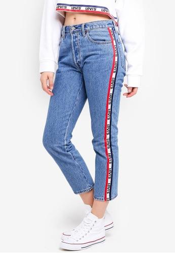 Levi's blue 501® Crop Jeans 82B84AA587BC6FGS_1