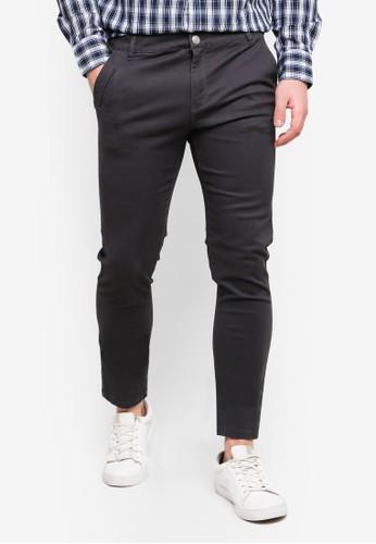 OVS grey Slim Fit Trend Chinos 56375AA673C672GS_1