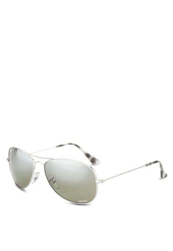Ray-Ban silver RB3562 Chromance Sunglasses RA896GL15GQQMY_1