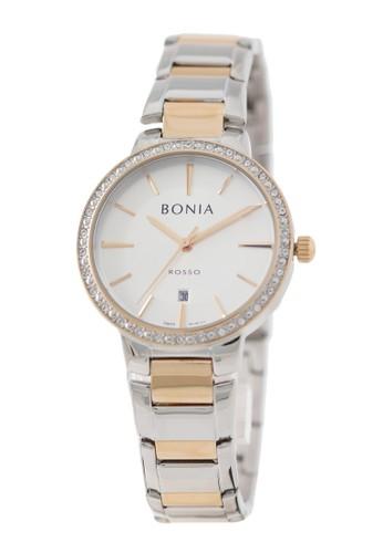 Bonia silver Bonia Rosso - BR160-2612S - Jam Tangan Wanita - Silver Rosegold 952BDAC777BBF4GS_1