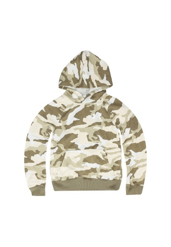Under Armour white and green Rival Printed Hoodie 432ABKA754269FGS_1
