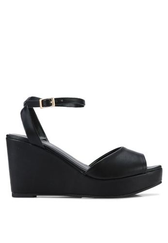 ZALORA black Platform Wedge Sandals 7F043SH384BA47GS_1