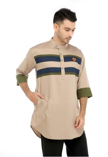 ZAYIDAN brown Baju Koko Gamis Muslim Pria Mauza - Coklat B9CE7AA86F231DGS_1