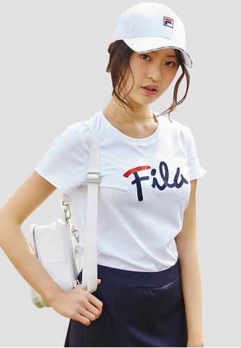 FILA white Logo Cotton Tee 2F5B1AA63526D8GS_1