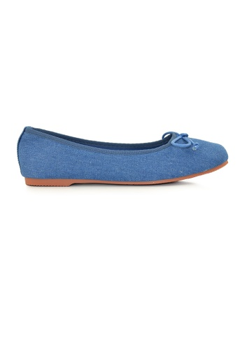 SHINE blue Square Toe Ballerinas SH554SH0FVDVSG_1