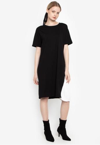 Susto The Label black Riel Pleats Dress 75947AA06B9243GS_1