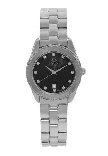 Roscani silver Roscani Mae B66 (Dual Pattern Dial) Stainless Steel Black Bracelet Women Watch BEFA6AC2613270GS_1