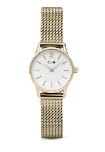 La Vedette CL500zalora 內衣07 奢華網格不銹鋼圓錶, 錶類, 飾品配件