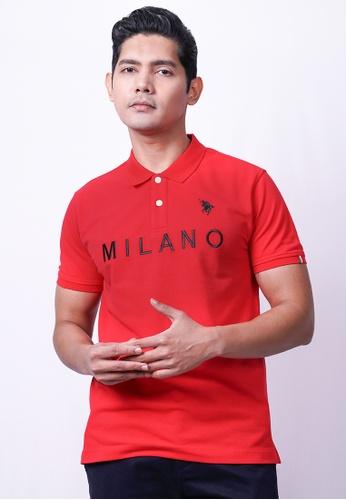MILANO red Milano Polo Short Sleeve 23D50AA0B0892BGS_1