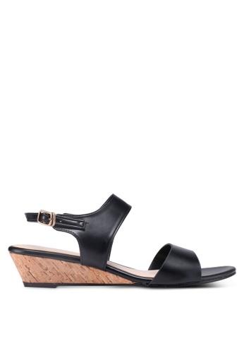 Bata 黑色 軟木楔型涼鞋 8DDB6SH239F495GS_1