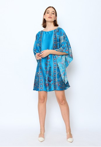 Cynthia blue Cynthia Short Batwing Batik Design Flower All Size - Blue 69375AA1C519E0GS_1
