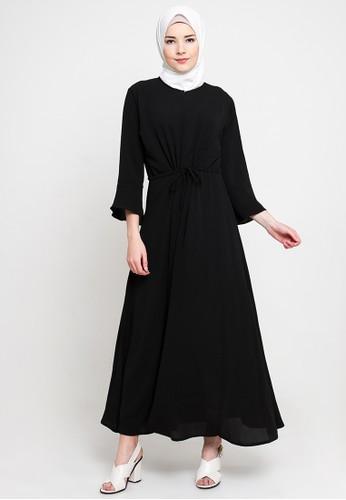 JV Hasanah black Simply Stringy Dress JV519AA16LATID_1