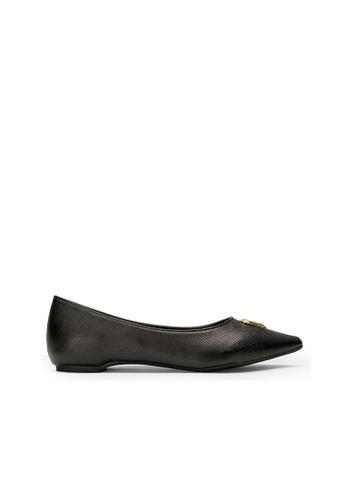 SEMBONIA black SEMBONIA Synthetic Leather Ballet Flat (Black) 7DE3BSH2FA15B1GS_1