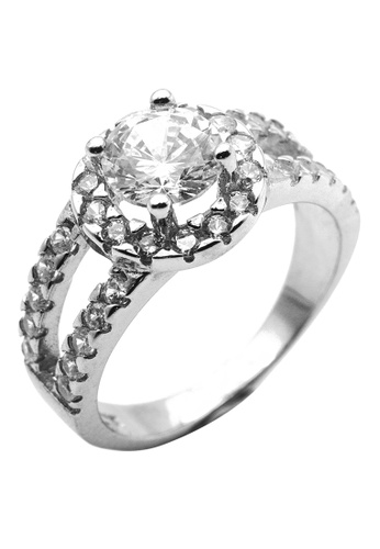 Elfi silver Elfi 925 Genuine Silver Engagement Ring R3 - The Fortune of Roman 55931AC472017EGS_1