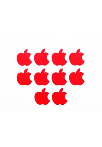 LAVABRA Intimates red Lavabra Invisible Bra -Apple  Nipple Covers 5 pairs Set-red LA387US13HVMID_1