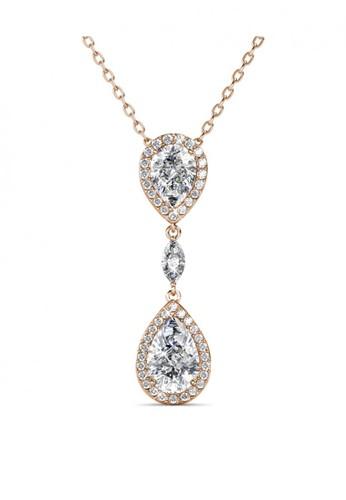 Her Jewellery yellow Layla Drop Pendant RG - Kalung Crystal Swarovksi by Her Jewellery 4F7B9AC814B572GS_1