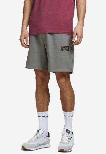 JACK & JONES green Soft Sweat Shorts 8E73CAA58741B8GS_1