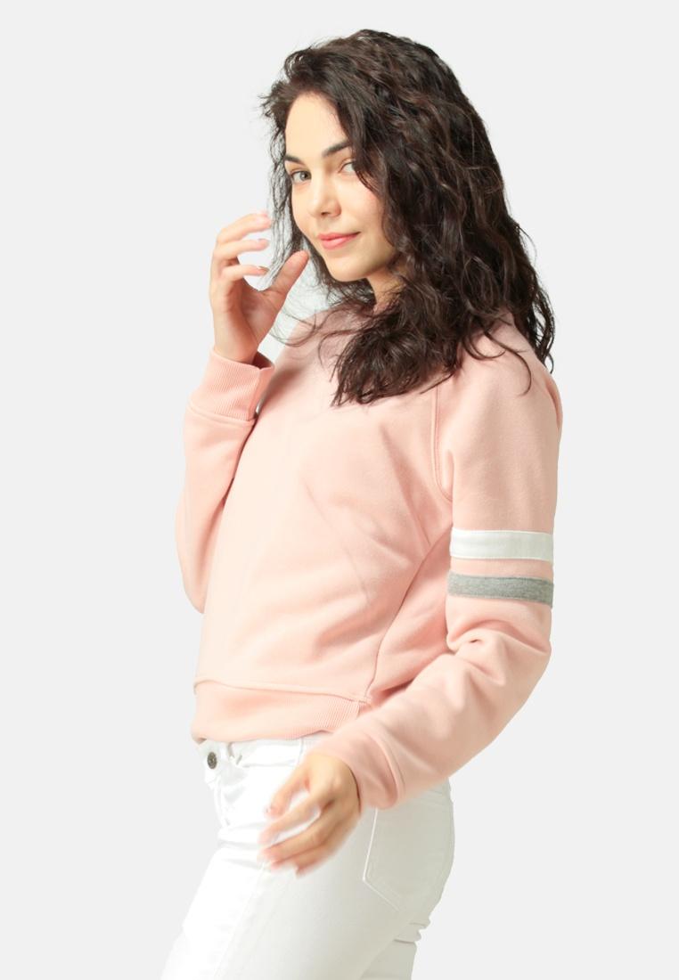 Crew Pink Sweatshirt Neck London Rag 165xfqP