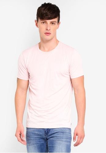 Brave Soul 粉紅色 水洗圓領T恤 13554AA281F47BGS_1