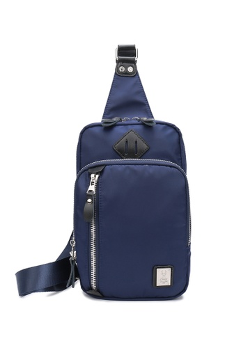 DUSTY blue Broader Chest Bag 8DB73ACAFE964DGS_1