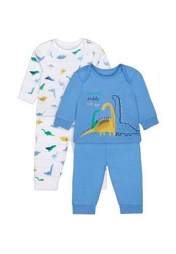Mothercare blue Mothercare Boys mummy and daddy dinosaur pyjamas - 2 pack - Setelan Baju Tidur Anak Laki Laki 055E2KA1A4583AGS_1