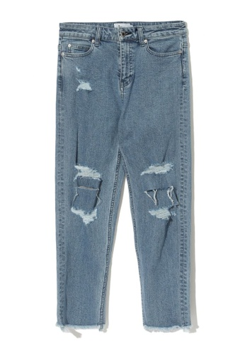 """izzue blue Ripped """"mom"""" jeans 3EF9BAA07C8D32GS_1"""