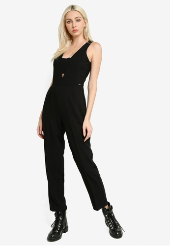Pepe Jeans black Peonia Plunge Neck Jumpsuit BC3B7AA61A1C47GS_1