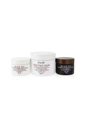 FRESH FRESH - Face Mask Set: Rose Rose Face Mask + Black Tea Firming Overnight Mask + Black Tea Instant Perfecting Mask 3pcs 5BC92BE8FF0C4EGS_1