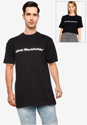 OBEY 黑色 Obey Worldwide T-Shirt D5767AAD4B332DGS_1