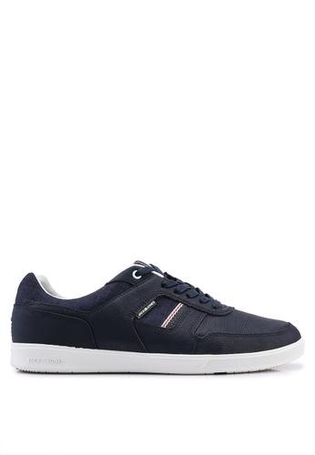 Jack & Jones navy Blade Navy Leather Sneakers 38E89SH050FD50GS_1