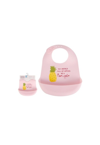 Little Kooma pink Baby Silicone Bib 00586 - 1116 D6561KCFB26E33GS_1