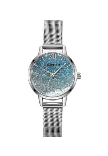 Rebirth Watch silver Rebirth jam tangan wanita stainless steel strap bisnis fashion design EAC86AC663F45DGS_1