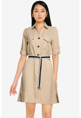 ZALORA BASICS beige Utility Dress FC9D7AABB365A9GS_1