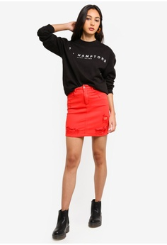 292cddf91884 33% OFF MISSGUIDED The Hamptons Graphic Sweatshirt S$ 39.90 NOW S$ 26.90  Sizes S M L