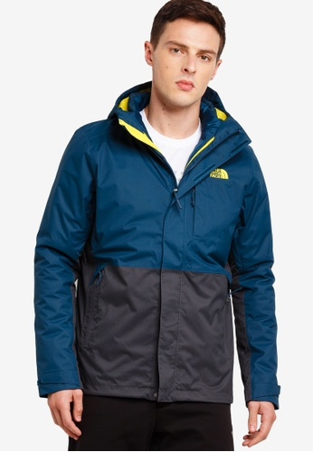 fc8ca3868 TNF M ALTIER DOWN TRICLIMATE JACKET - AP KODIAK BLUE/ASPHALT GREY