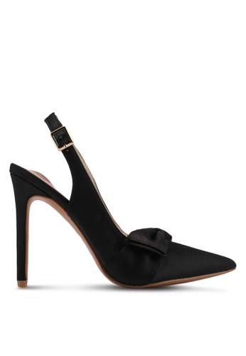 Velvet black Satin Bow High Heels F2CB5SHFD82F45GS_1