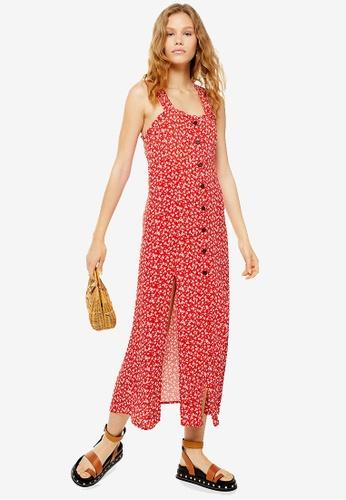 available pretty cheap famous brand Ditsy Split Midi Dress