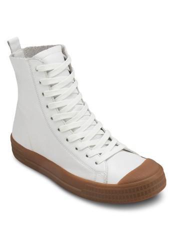 Titan 高筒繫帶皮革休閒鞋、 女鞋、 鞋TOPSHOPTitan高筒繫帶皮革休閒鞋最新折價