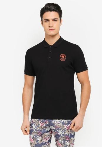 JAXON black Hawaii Polo Shirt 911E2AA414E012GS_1
