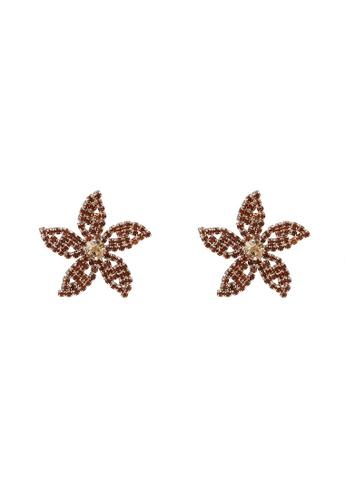 Call It Spring brown Kedaclya Pierced Earrings 10667AC99D2AA1GS_1