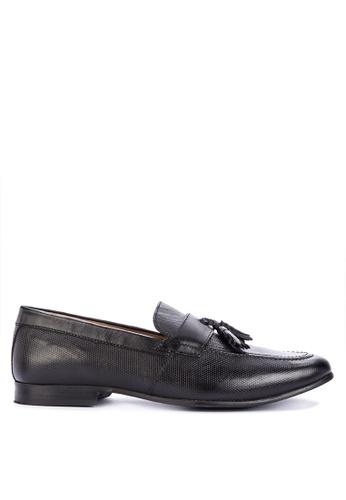 Topman black Rigel Tassel Loafers BE529SH0451473GS_1